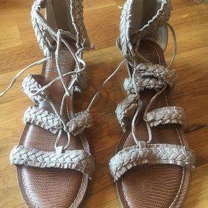 Carlos Santana suede strappy sandal